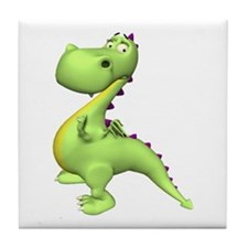 Puff The Magic Dragon - Green Tile Coaster