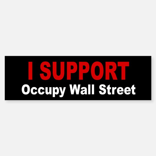 Occupy WallStreet Sticker (Bumper)