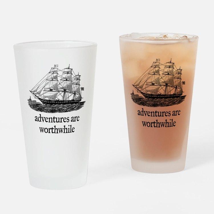 Adventures Drinking Glass