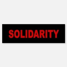 Solidarity: Bumper Bumper Sticker