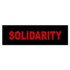 Solidarity: Bumper Sticker