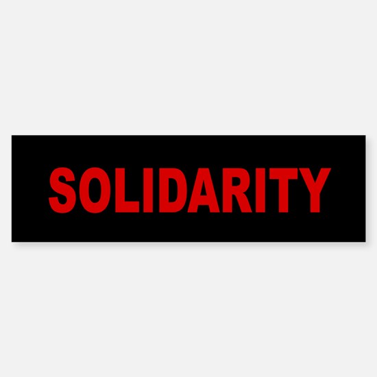 Solidarity: Sticker (Bumper)