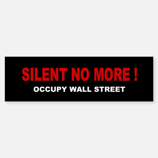 Silent No More: Sticker (Bumper)