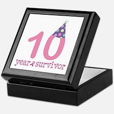 10 Year Breast Cancer Survivor Keepsake Box