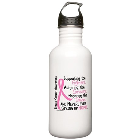 SupportAdmireHonor10 Breast Cancer Stainless Water