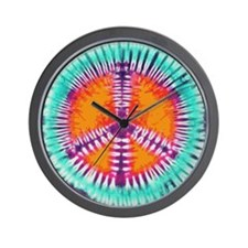 Blue Peace Wall Clock