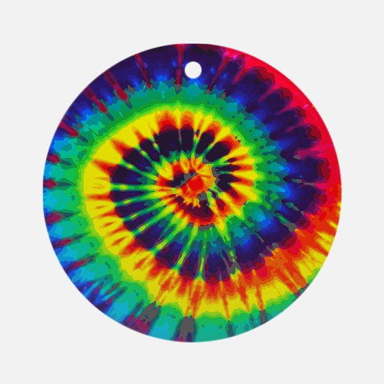 Bright Tie-Dye Ornament (Round)