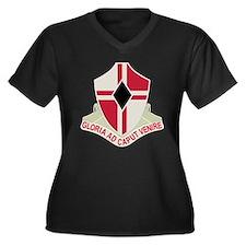 Funny Willings Women's Plus Size V-Neck Dark T-Shirt