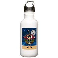 Cute Pirate Captain Water Bottle