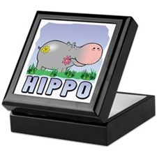 Happy Hippo Keepsake Box