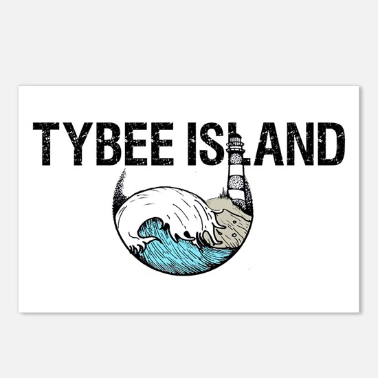 Tybee Island, Ga Postcards (package Of 8)