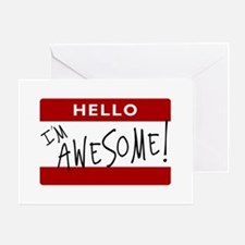 Hello - I'm Awesome! Greeting Card