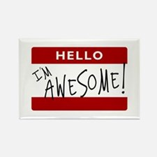 Hello - I'm Awesome! Rectangle Magnet