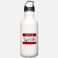 Hello - I'm Awesome! Water Bottle