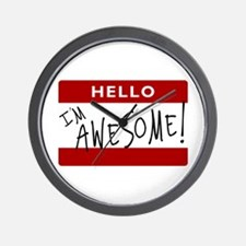 Hello - I'm Awesome! Wall Clock