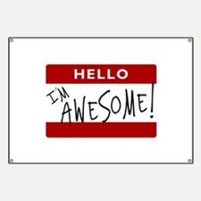 Hello - I'm Awesome! Banner