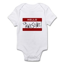 Hello - I'm Awesome! Infant Bodysuit