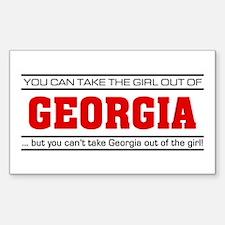 'Girl From Georgia' Sticker (Rectangle)