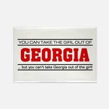 'Girl From Georgia' Rectangle Magnet