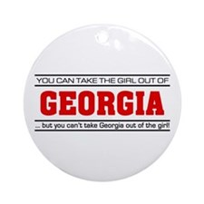 'Girl From Georgia' Ornament (Round)