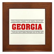 'Girl From Georgia' Framed Tile