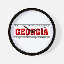'Girl From Georgia' Wall Clock