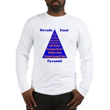 Nevada Food Pyramid Long Sleeve T-Shirt