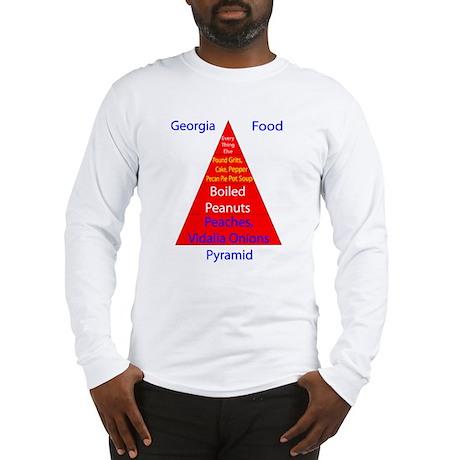 Georgia Food Pyramid Long Sleeve T-Shirt