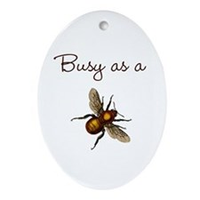 Busy Bee Ornament (Oval)
