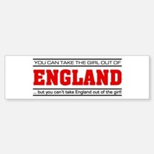 'Girl From England' Bumper Bumper Sticker