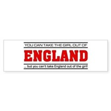 'Girl From England' Bumper Sticker