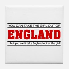 'Girl From England' Tile Coaster