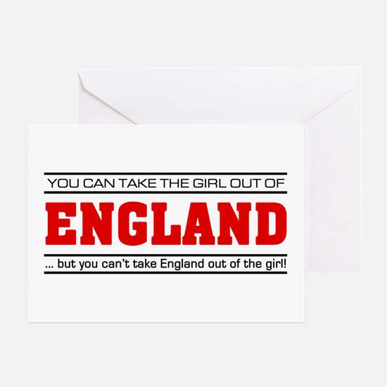 'Girl From England' Greeting Card