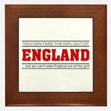 'Girl From England' Framed Tile