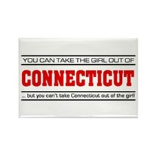 'Girl From Connecticut' Rectangle Magnet