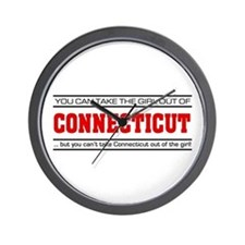 'Girl From Connecticut' Wall Clock