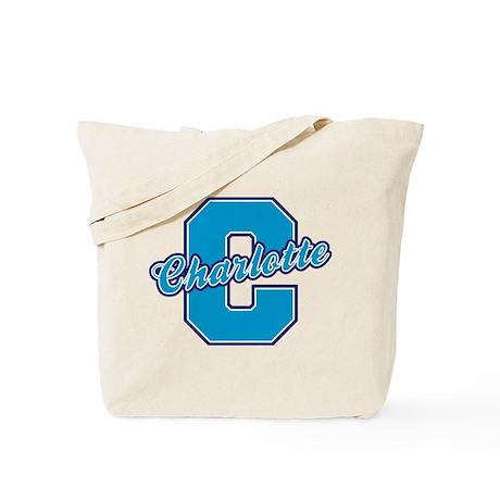 Charlotte Letter Tote Bag