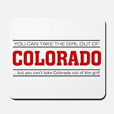 'Girl From Colorado' Mousepad