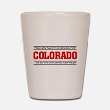 'Girl From Colorado' Shot Glass