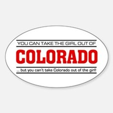 'Girl From Colorado' Sticker (Oval)