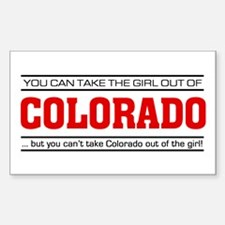 'Girl From Colorado' Decal