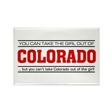 'Girl From Colorado' Rectangle Magnet
