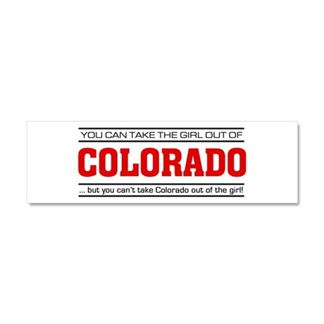 'Girl From Colorado' Car Magnet 10 x 3