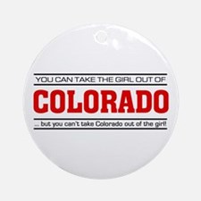 'Girl From Colorado' Ornament (Round)