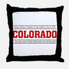 'Girl From Colorado' Throw Pillow