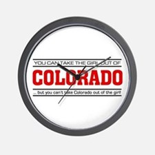 'Girl From Colorado' Wall Clock