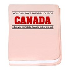'Girl From Canada' baby blanket