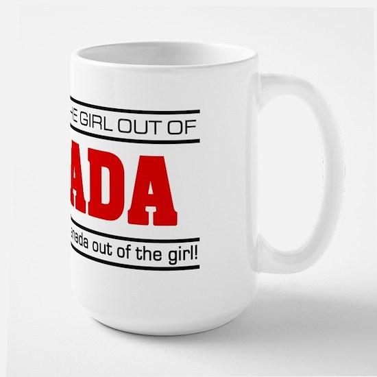 'Girl From Canada' Large Mug