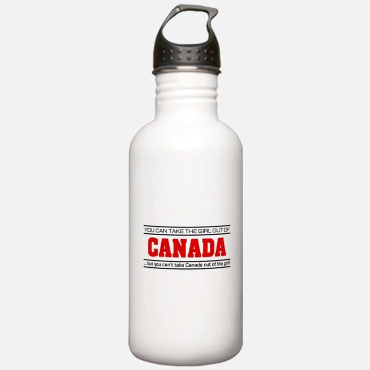 'Girl From Canada' Sports Water Bottle