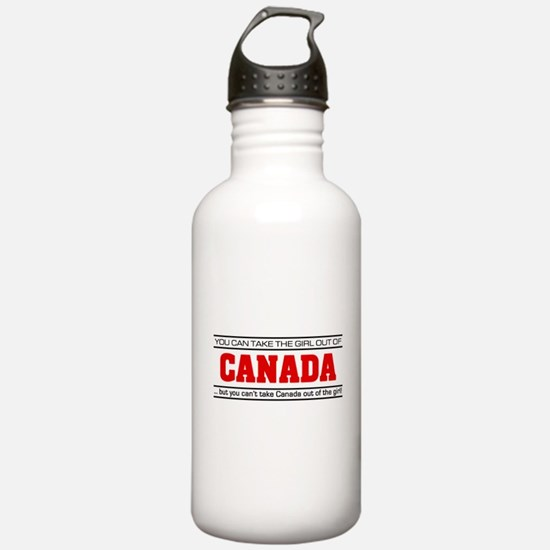 'Girl From Canada' Water Bottle
